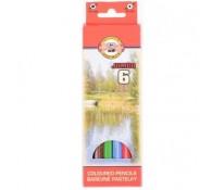 Цветные карандаши 6 цветов
