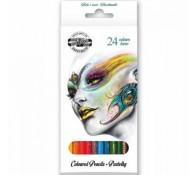 Цветные карандаши 24 цветов (белые)