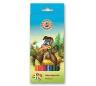 Цветные карандаши Страус 12 цветов