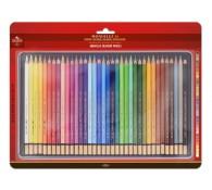 Акриловые карандашы 36 цветов. В железной коробке