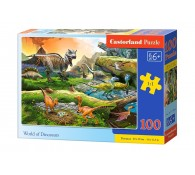 Пазл 100. Мир динозавров