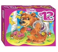 Пазл 12 элементов Медвежонок