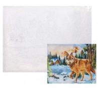Рисование по номерам. Волк в зимнем лесу 40*50 см