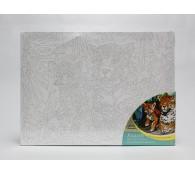 Холст для рисования без номеров Леопарды 30х40 см