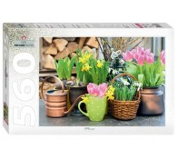Пазл 560 элементов Весенние цветы
