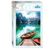 Пазл 560 элементов Италия Озеро Брайес