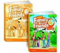 Family and Friends: Level 4: Class Book with Student MultiROM + workbook
