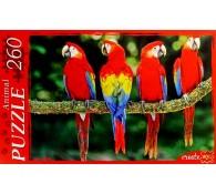 Пазл 260 элементов. Красные попугаи
