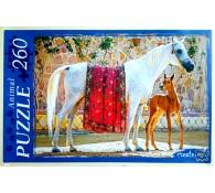Пазлы-260 элементов Лошадь и жеребёнок