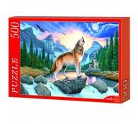 Пазлы 500 элементов Волки в горах