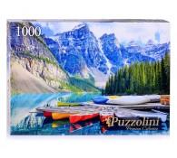 Пазлы 1000 деталей Puzzolini Канада. Озеро Морейн