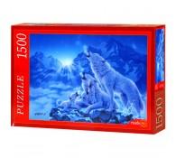 Пазлы 1500 элементов Семейство волков