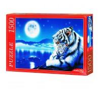 Пазлы 1500 элементов  Тигры и луна