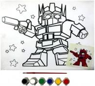 Картина-раскраска для детей 24х30 Робот