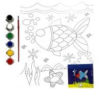 Картина-раскраска для детей 24х30 Рыбка