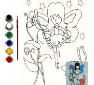 Картина-раскраска для детей 24х30 Фея
