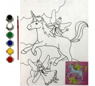 Картина-раскраска для детей 24х30 Единорог
