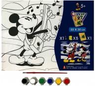 Картина-раскраска для детей 24х30 Микки Маус