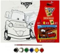 Картина-раскраска для детей 24х30 Тачки