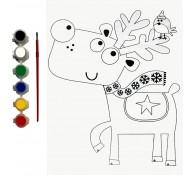 Картина-раскраска для детей 24х30 Олень