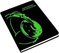 Дневник из искусственной кожи Зеленый неон