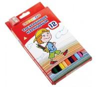 Цветные карандаши с точилкой ЦВЕТИК 12 цветов