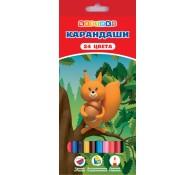 Цветные карандаши ЦВЕТИК 24 цвета