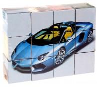 Кубики /Автомобили/ пластик 12 шт