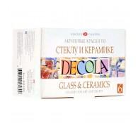 Акриловые краски 6 цв Decola по стеклу и керамике 20 мл